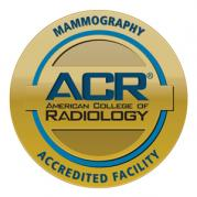 ACR (American College of Radiology) Mammography Accredited Facility seal