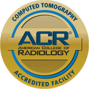 ACR (American College of Radiology) Computed Tomography Accredited Facility seal