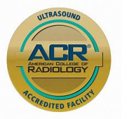 ACR (American College of Radiology) Ultrasound Accredited Facility seal