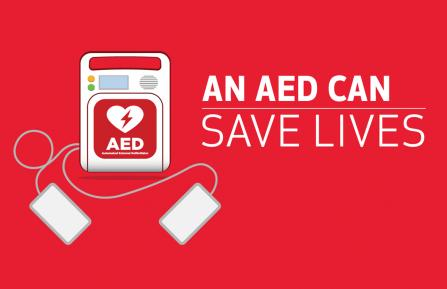 An Automated External Defibrillator (AED) can save lives
