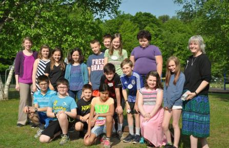 Hartland Elementary school students and teacher