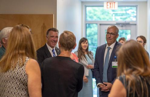 Governor Phil Scott visits Mt. Ascutney Hospital and Health Center