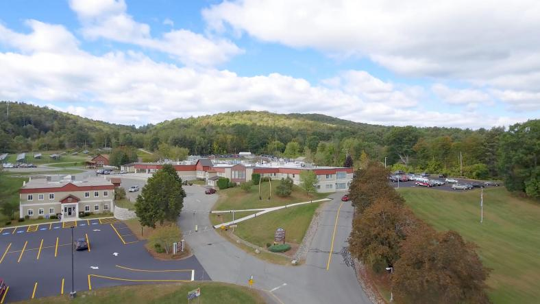 Aerial view of Mt. Ascutney Hospital and Health Center